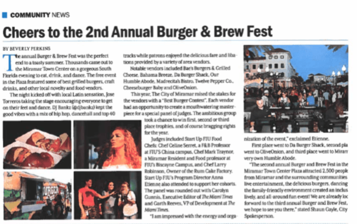 The City Of Miramar Burger and Brew Fest