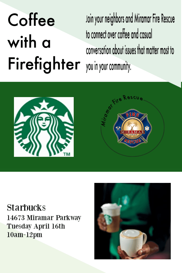 Coffee with a Firefighter