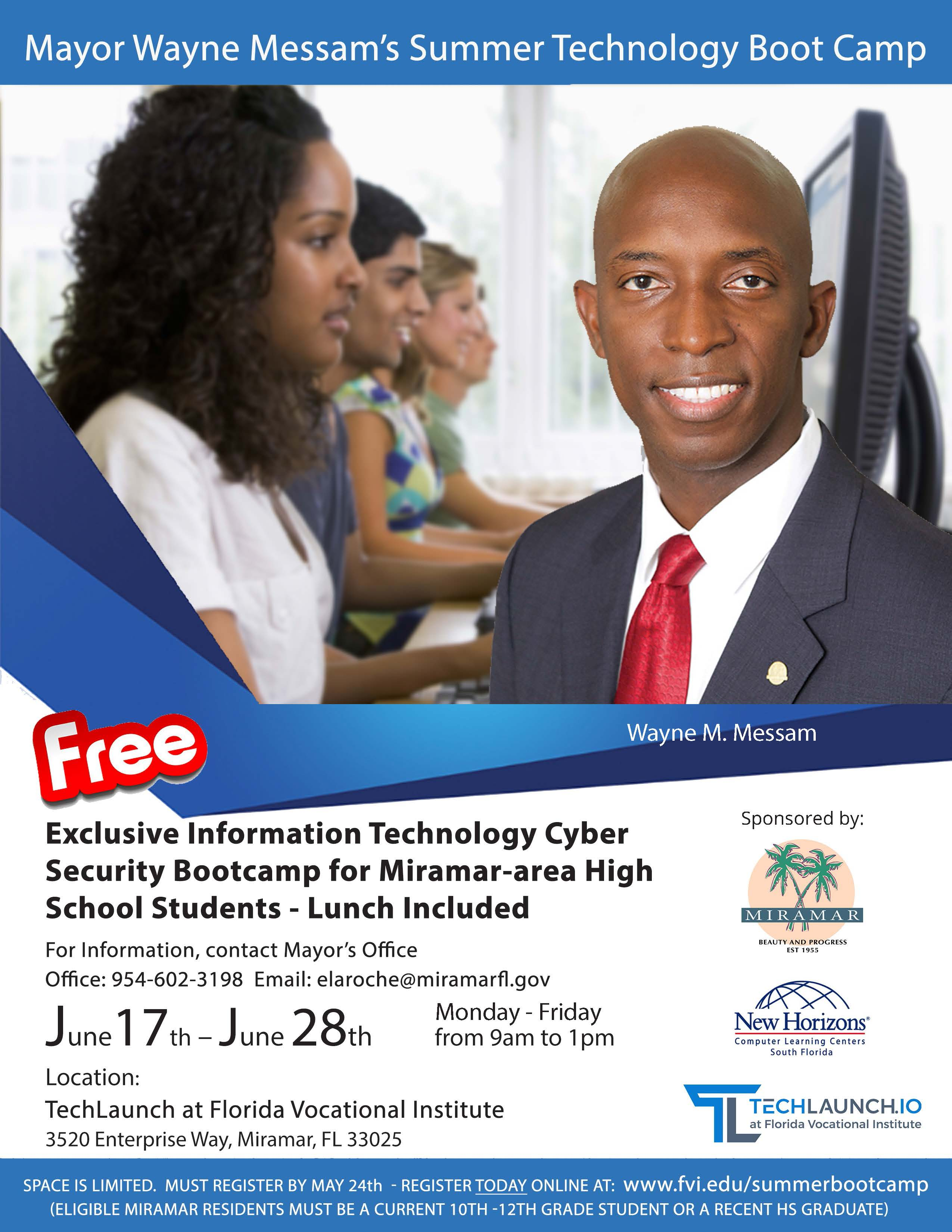 Miramar Summer Tech Bootcamp flyer-2019