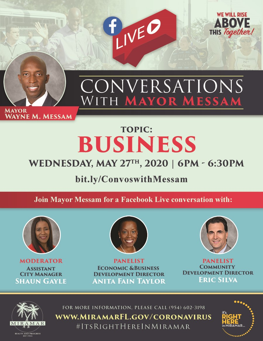 Conversations with Mayor Messam Flyer