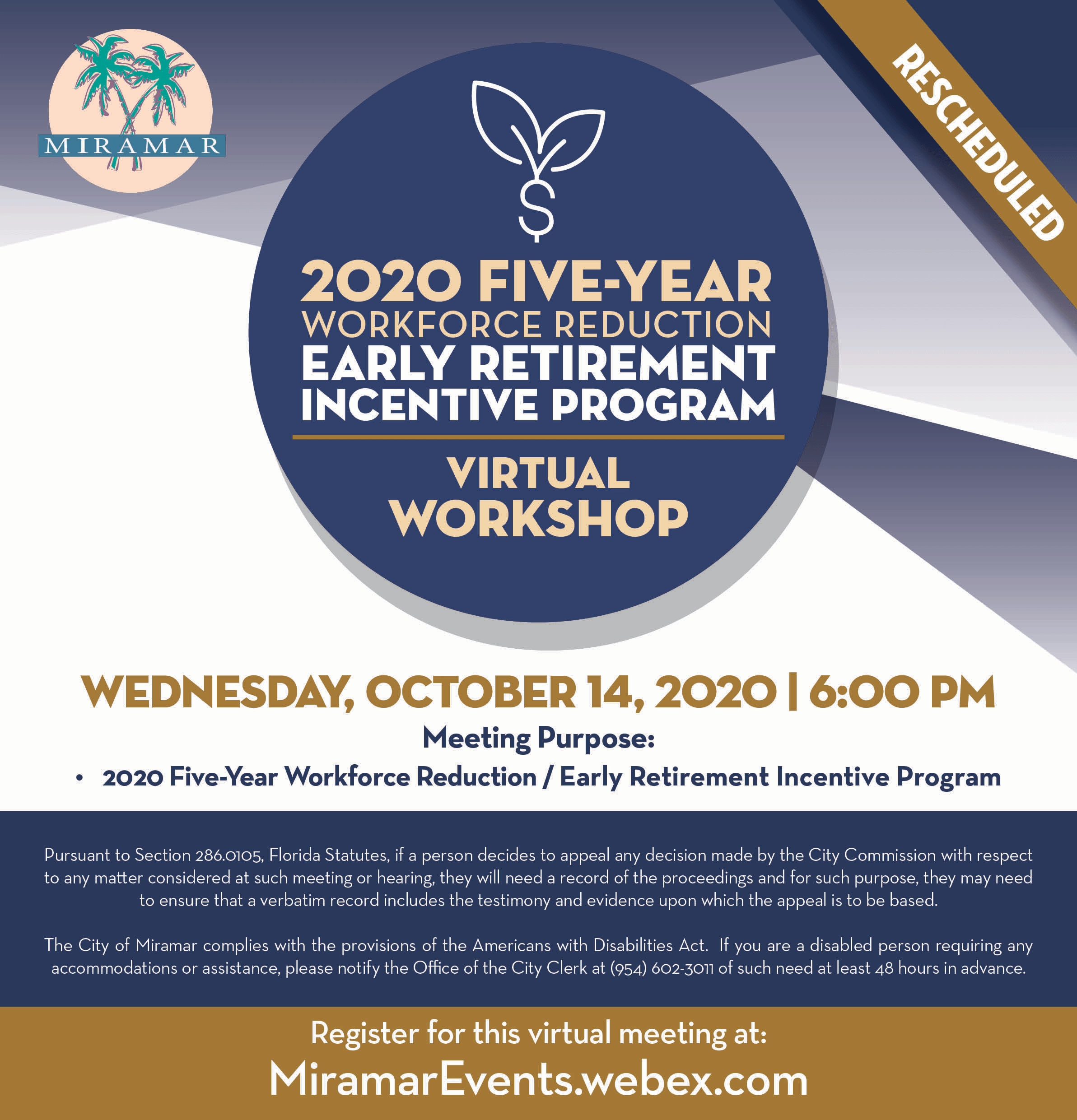 Early Retirement Incentive Program Workshop 0930 - Home Page Banner