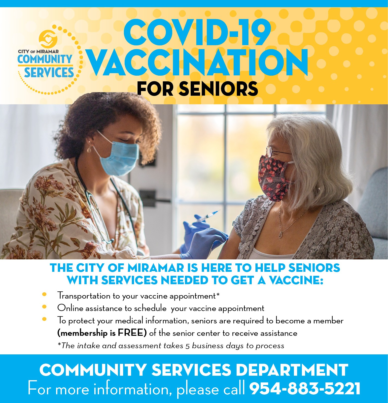 Covid-19 Vaccination for Seniors - News Banner