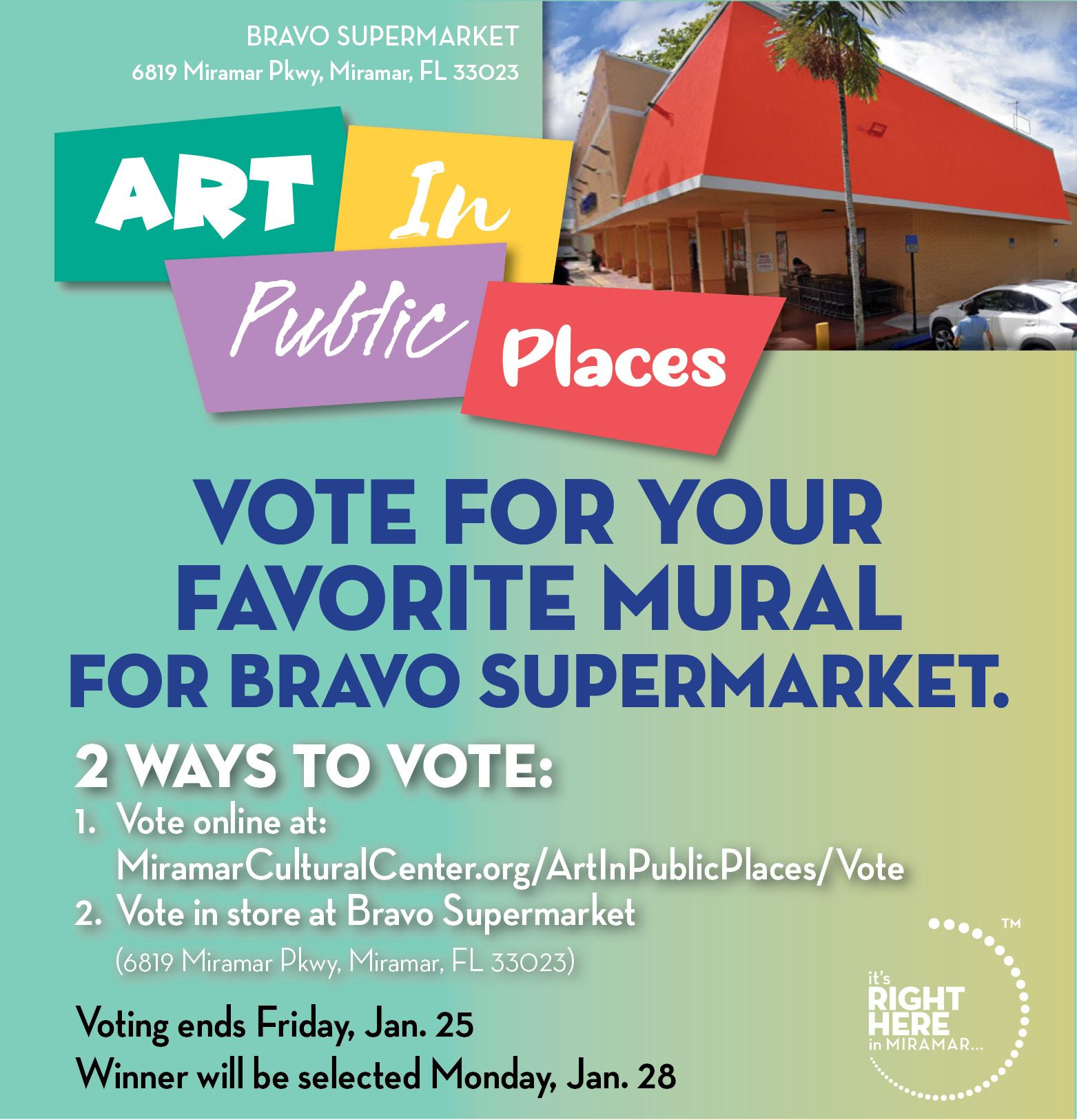 Art in Public Places Vote - News