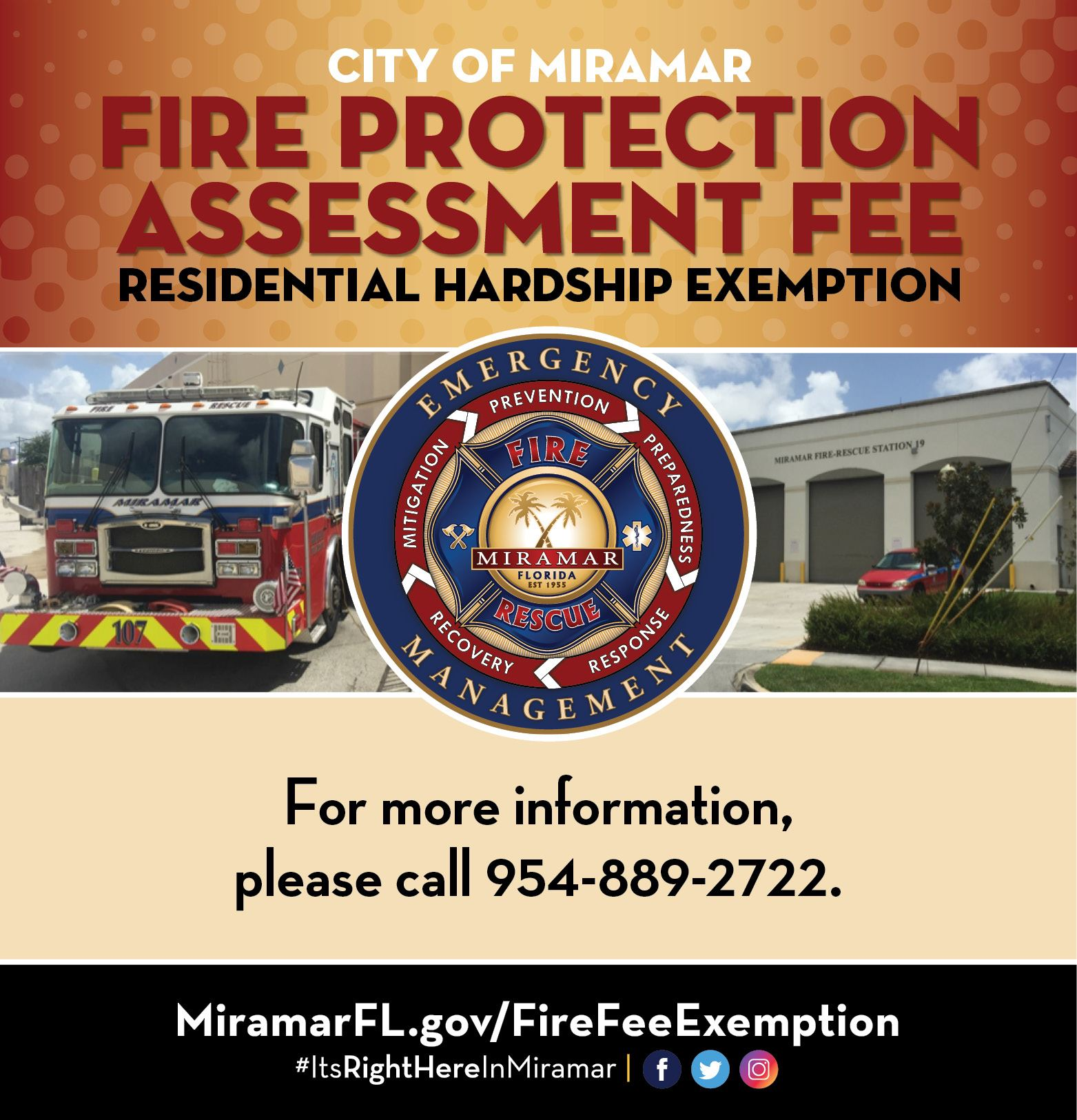 Fire Protection Assessment Fee Banner