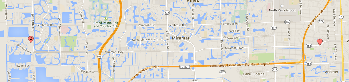 Map Of Miramar Florida.Locations And Hours Of Operation Miramar Fl Official Website