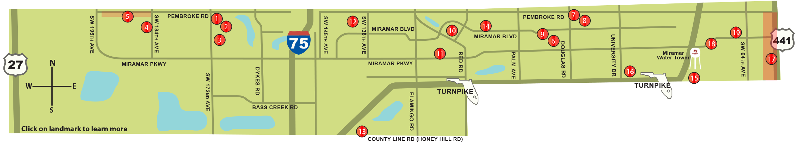 Revenue Bond 2013 Projects Map Miramar Fl Official Website