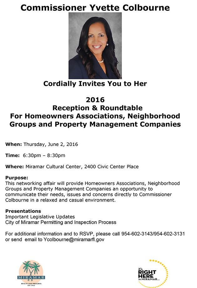 2016 HOA Reception & Roundtable