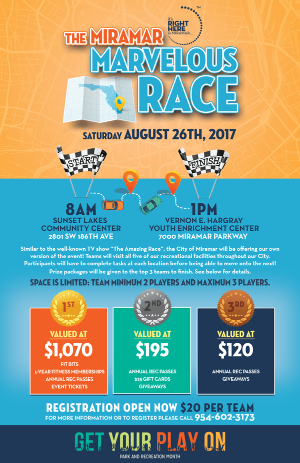 The Miramar Marvelous Race Flyer