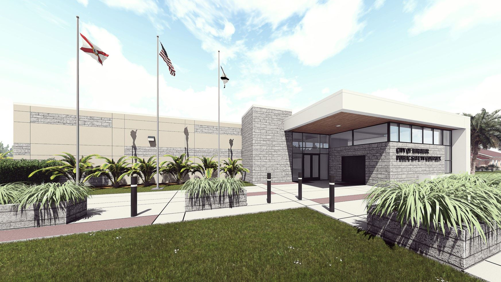 Public Safety Complex Rendering