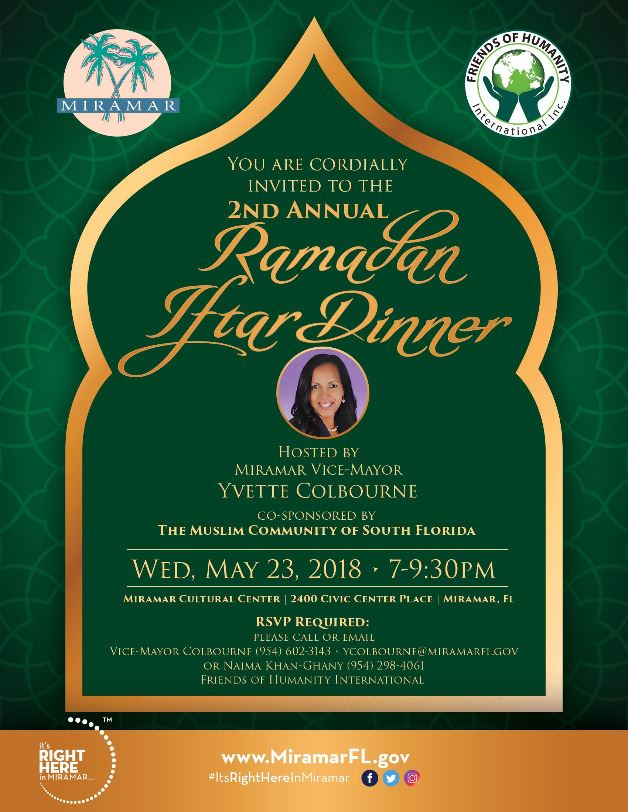 2018 2nd Annual Ramadan Iftar Dinner, Breaking The Fast Flyer