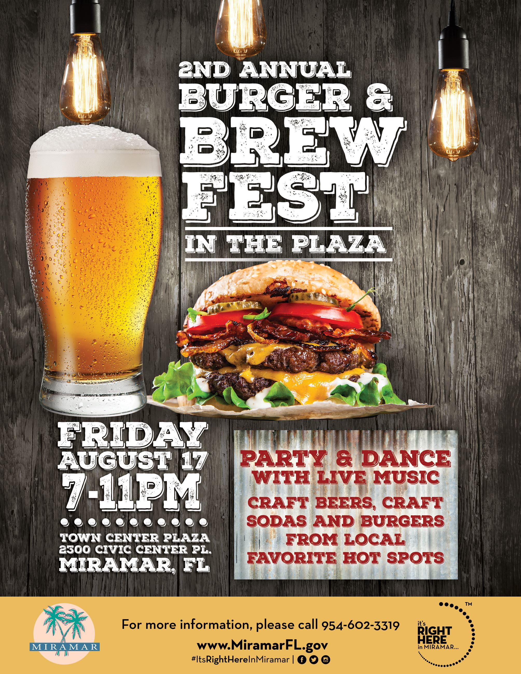 Burger and Brew Fest Flyer