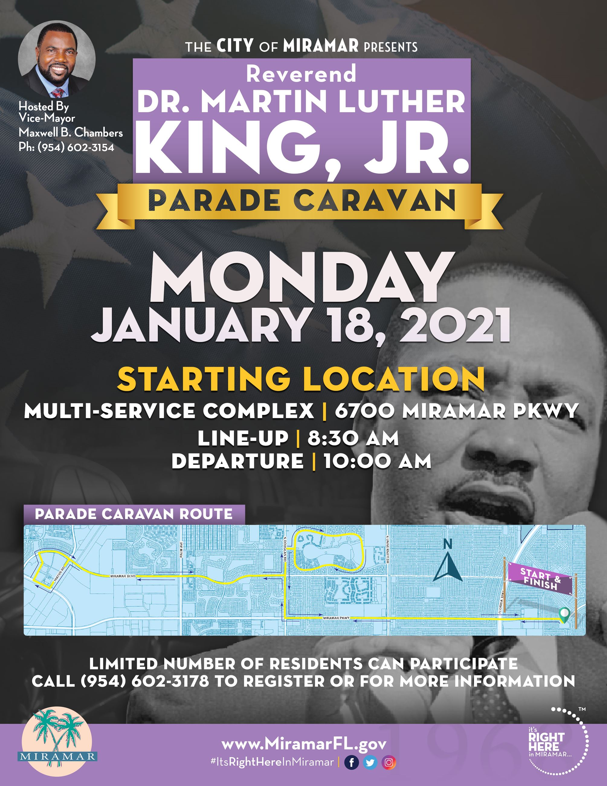 Martin Luther King Jr Day Parade - Flyer