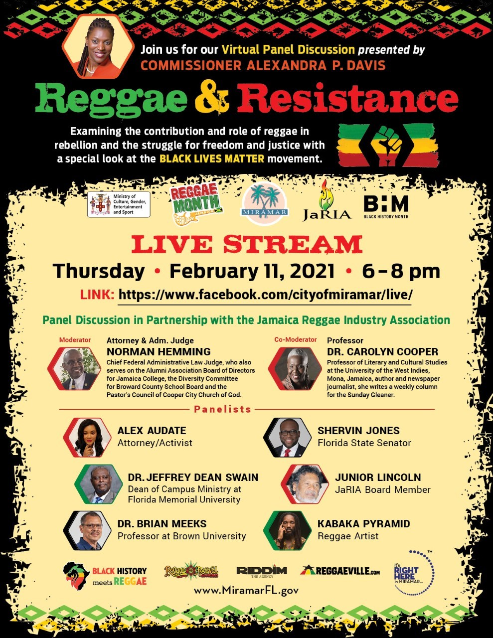 Commissioner Davis Reggae and Resistance FNL