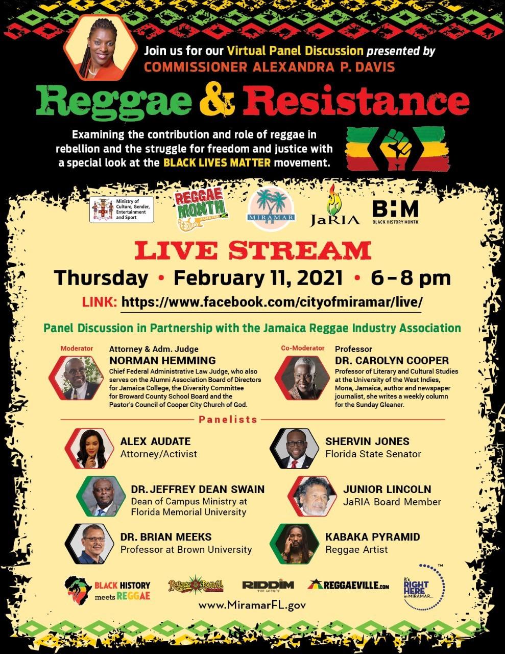Commissioner Davis Reggae and Resistance FNL