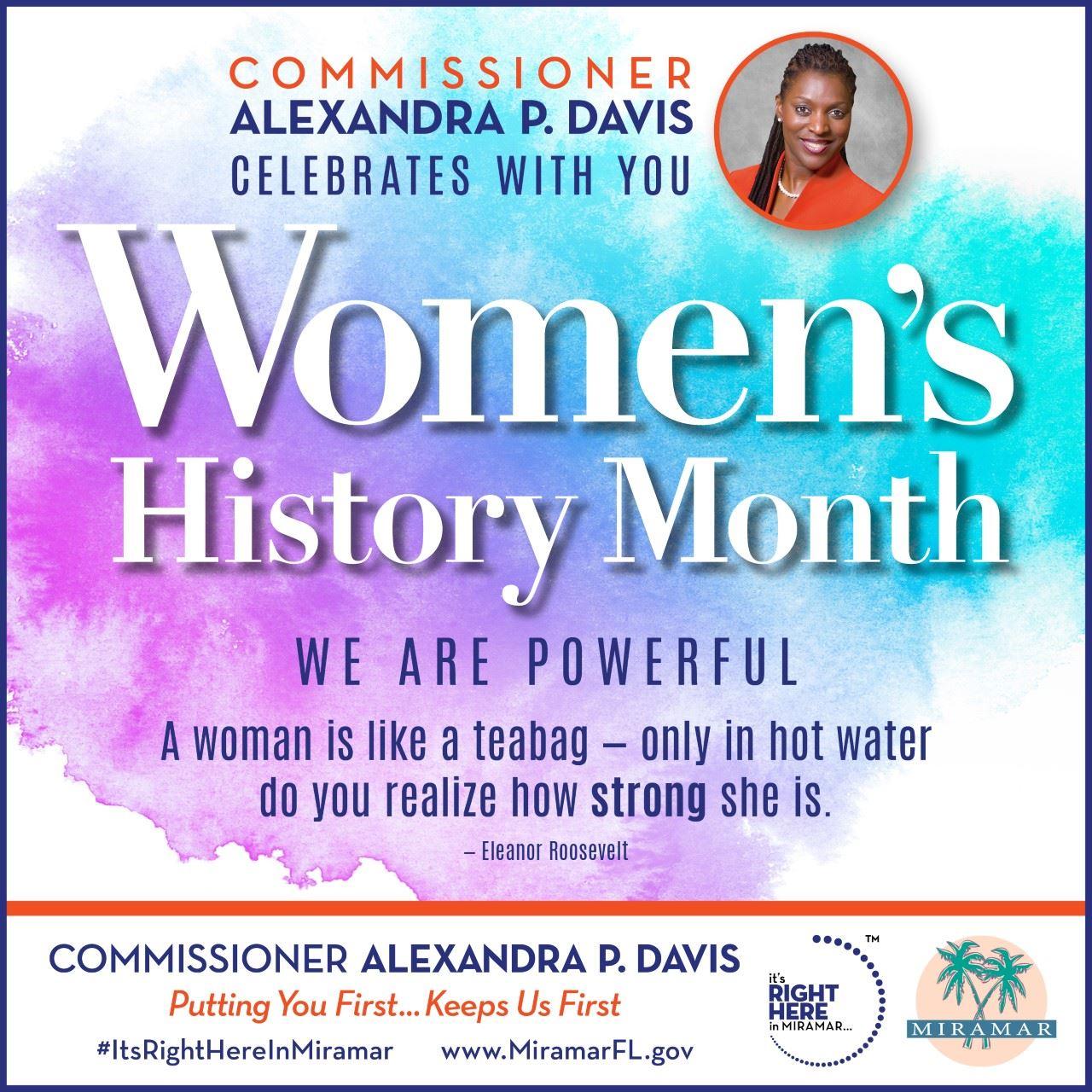 Commissioner Davis Womens History Month