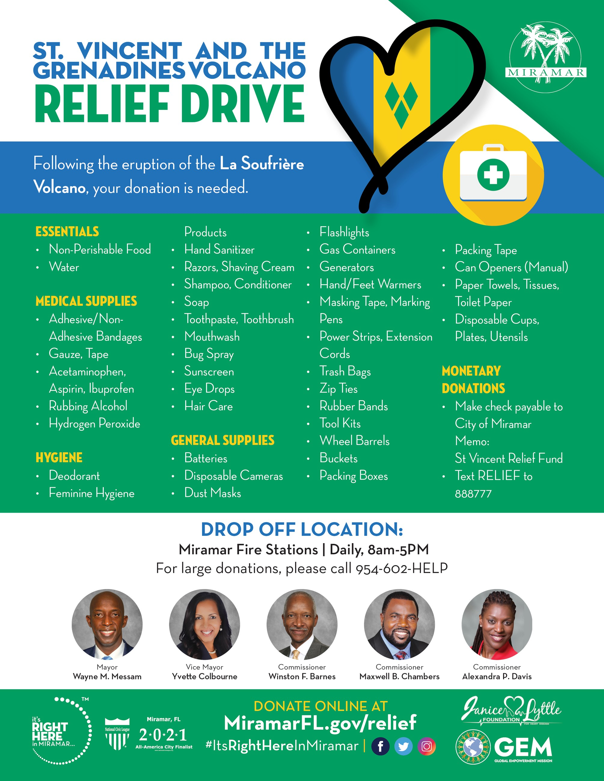St Vincent and the Grenadines Volcano Relief Drive