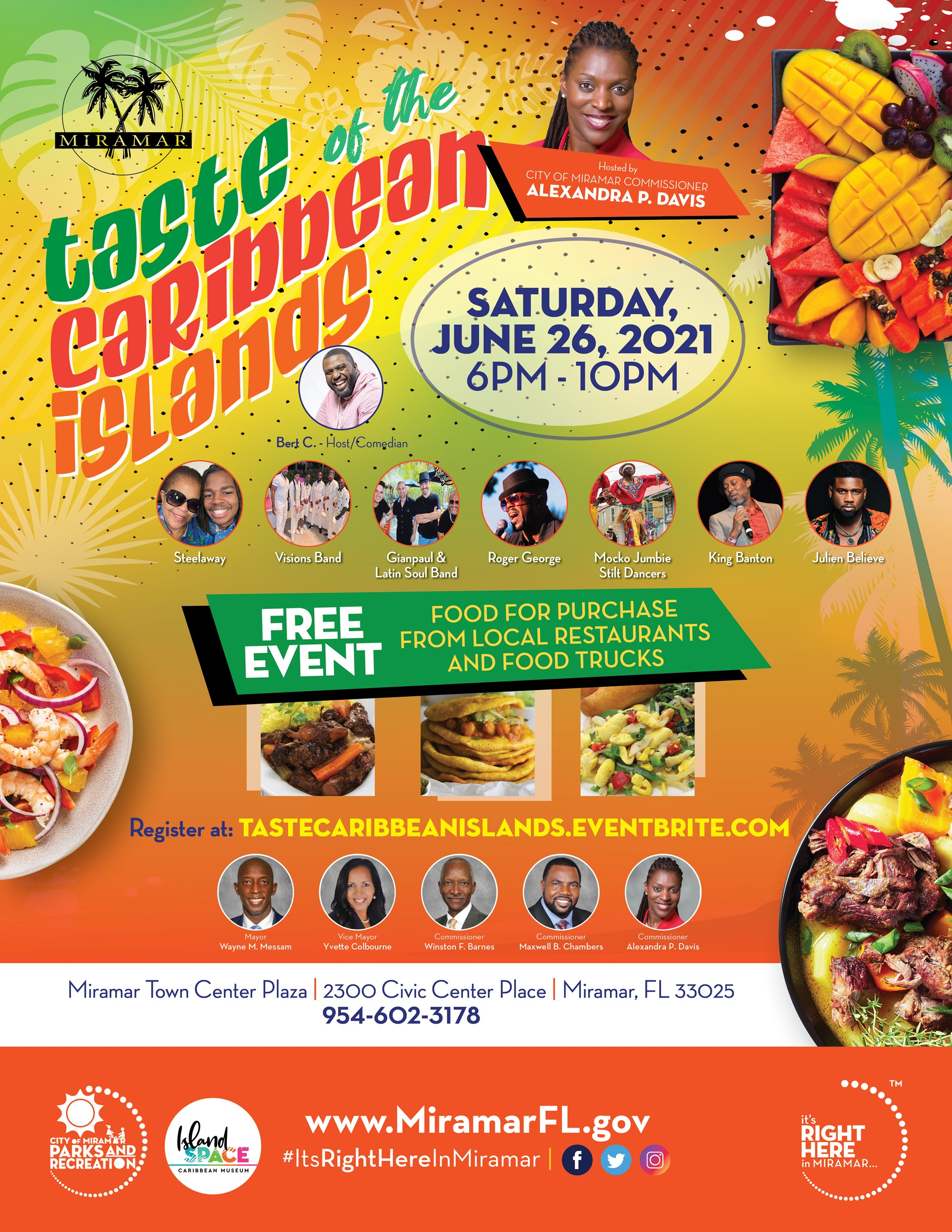 Taste of the Caribbean - Save the Date Flyer