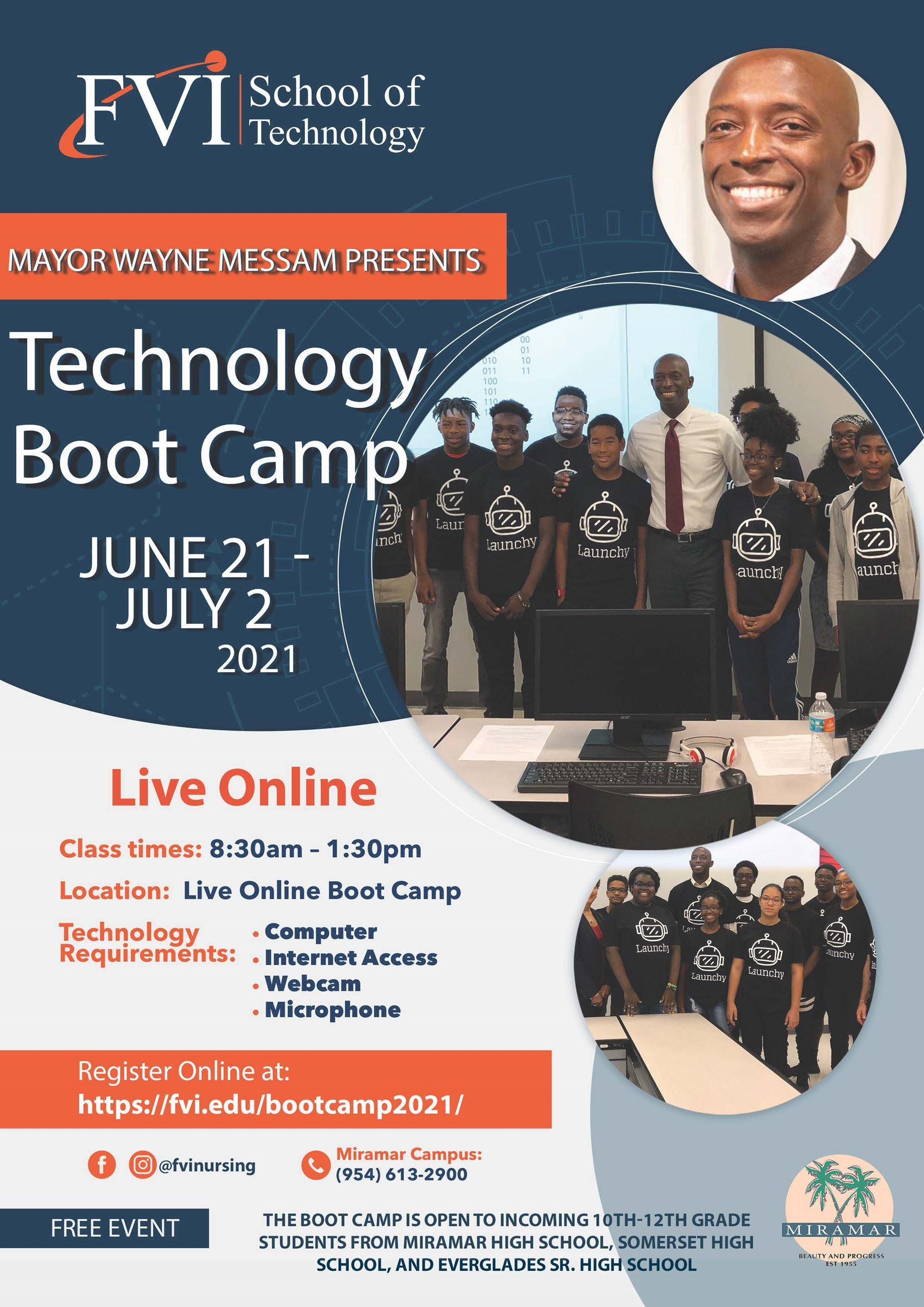 2021 Mayor Messam Summer Technology Bootcamp