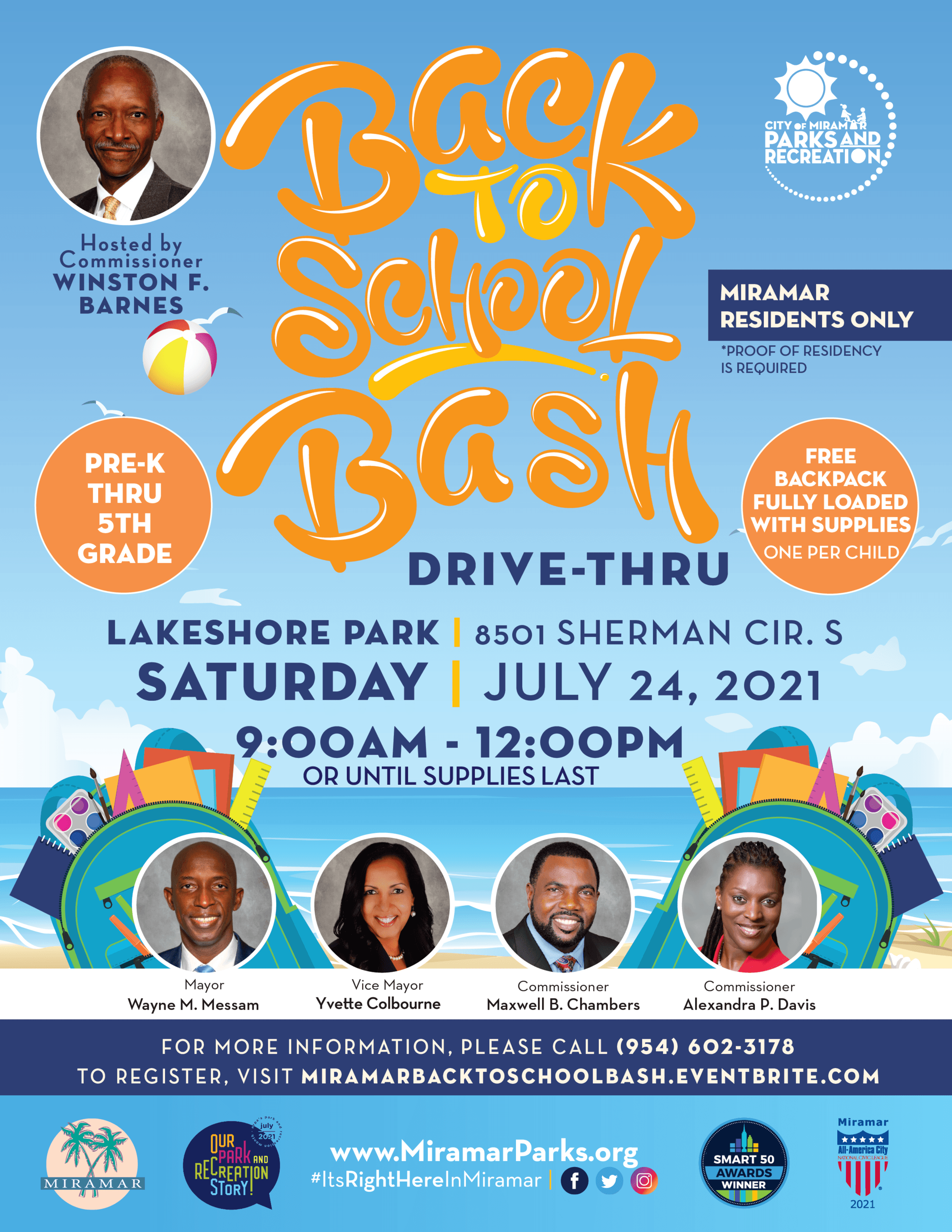 Back 2 School Bash Hosted by Commissioner Barnes