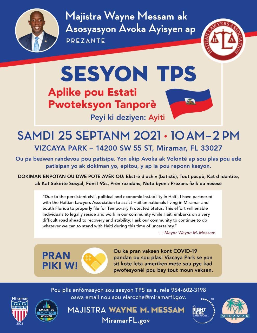 Mayor Messam TPS Session Haiti 2021 CRE Flyer-1