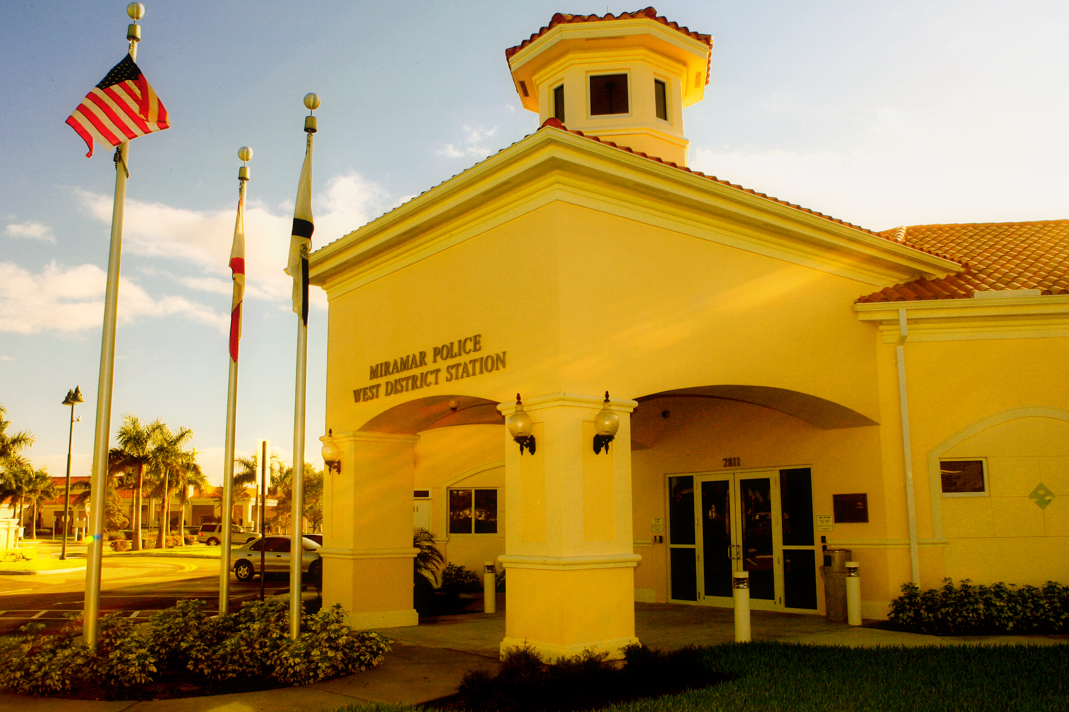 The Miramar Police West District Station building